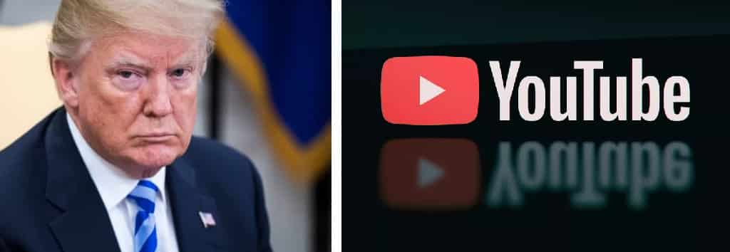 "Trump sospeso anche da YouTube: ""Diffonde video che incitano alla violenza"""