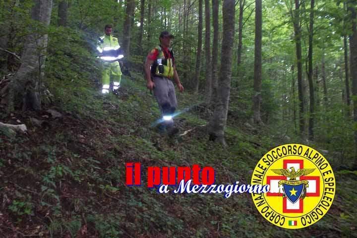Collepardo, tre escursionisti si perdono sul sentiero. Lungo intervento di recupero del Soccorso Alpino