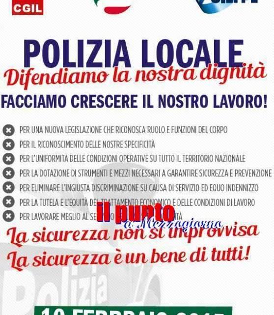 """Il 10 febbraio presidi davanti alle Prefetture di tutta Italia di Cgil Cisl Uil: """"Polizia Locale, Mobilitazione Nazionale"""""""