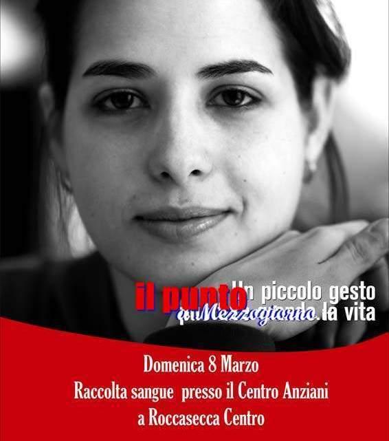 Domenica 8 marzo raccolta sangue a Roccasecca