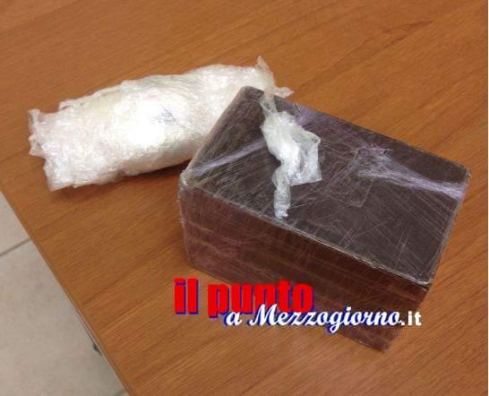 Marito e moglie di Sora trovati con un carico di droga, sequestrati sei chili tra cocaina e hashish