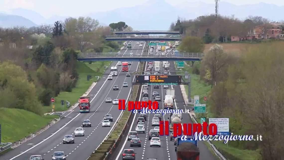 A1 Mi-Na: Nella notte fra il 20 – 21 febbraio chiusa l'uscita di Frosinone
