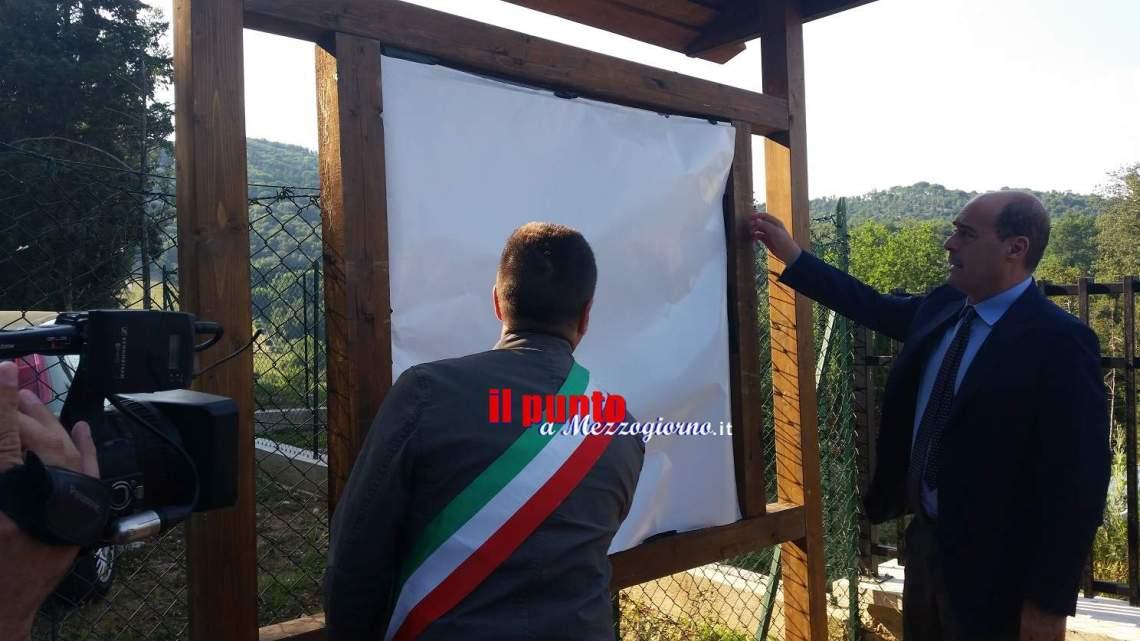Inaugurazione del percorso della Battaglia di Montecassino, operazione di facciata. Il cancello resta chiuso