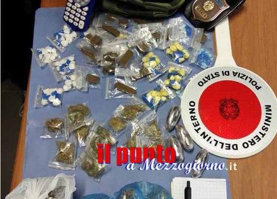 Spacciatore arrestato a Frosinone, nel borsello aveva droga e lista dei clienti
