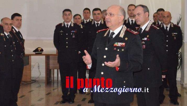 Il generale Agovino in visita al comando provinciale dei carabinieri di Frosinone per gli auguri