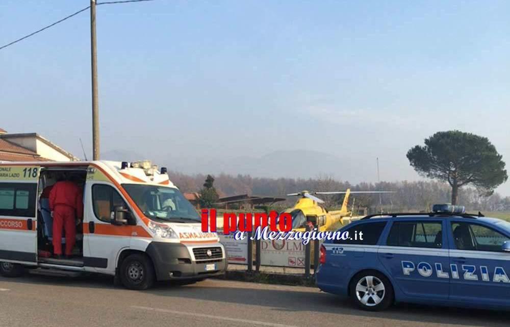 Incidente in A1 a Cassino, donna elitrasportata
