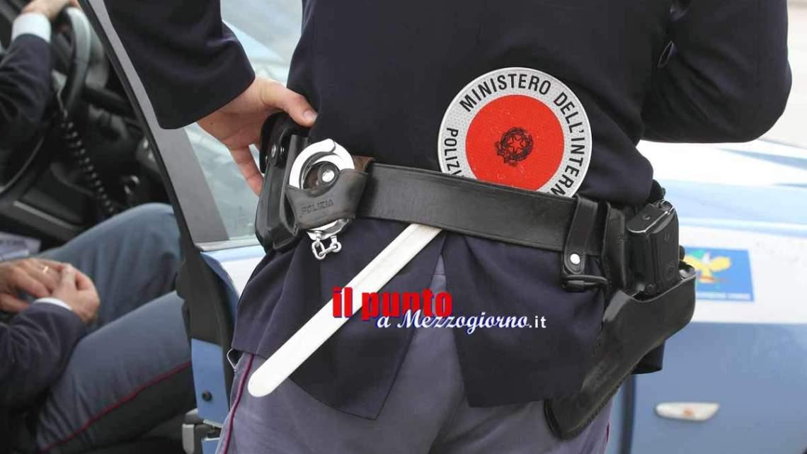 Controlli della polizia sull'asse Attrezzato a Frosinone
