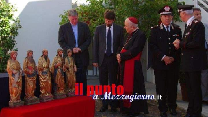Cinque statue trafugate ad Udine recuperate dai carabinieri del Tpc e restituite al vescovo