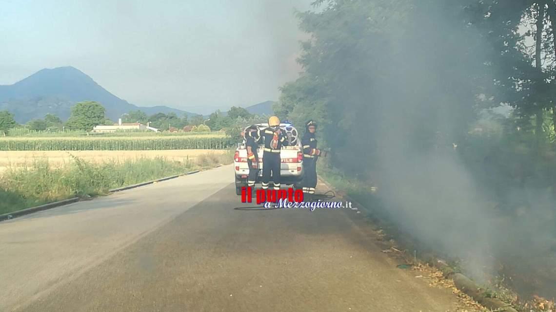 Incendi boschivi, roghi a Piedimonte San Germano e Mignano Monte Lungo