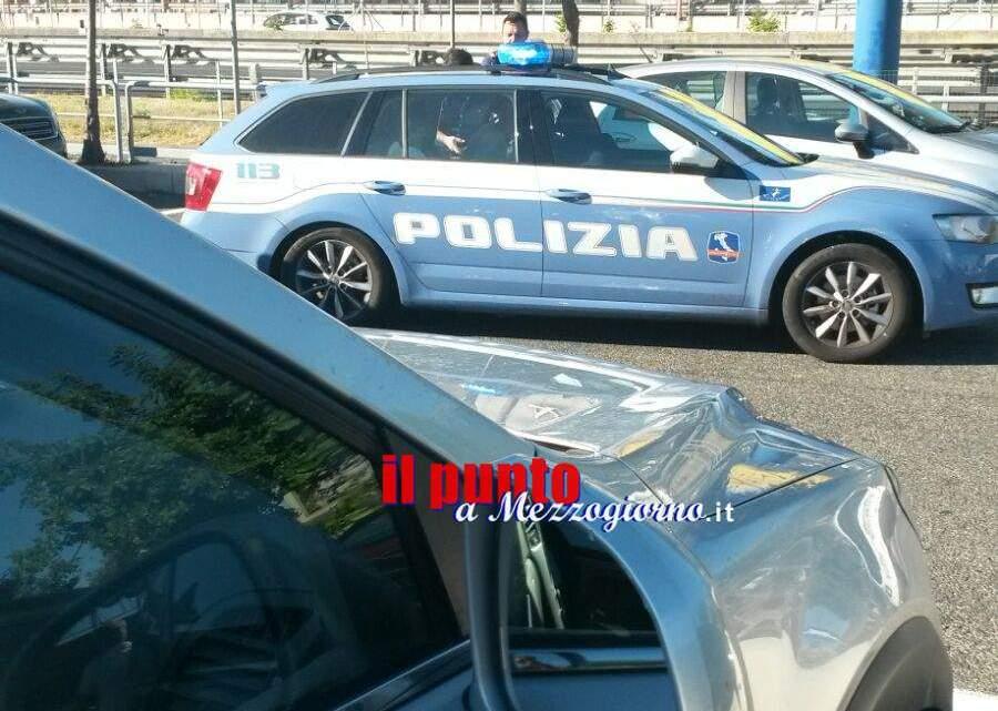 Spettacolare arresto nell'area di servizio sull'A1 a Castrocielo