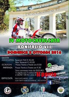 La quarta edizione della Motocavalcata Bonifacio VIII di Fiuggi scalda i motori