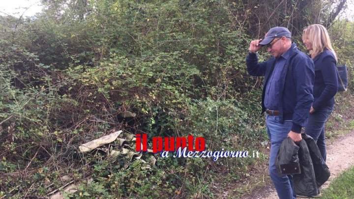 """Ambientalisti e amministratori di Cassino fanno sopralluogo alle """"sorgenti"""" dell'acqua rossa"""
