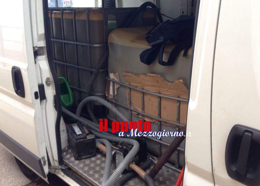 Duemila litri di gasolio sequestrati a Cassino