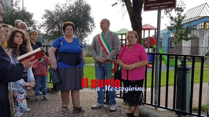 Serrone – Giardino intitolato ad Antonio Roazzi, martire delle Fosse Ardeatine