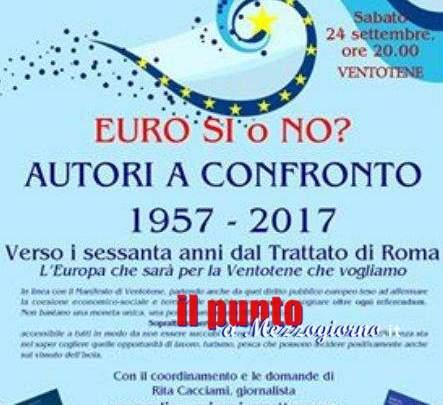 """A Ventotene per discutere sul futuro dell'Europa, sabato """"Autori a Confronto"""""""