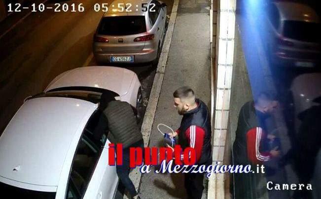 Ladri di macchine di lusso a Cassino, il gruppo composto da tre persone probabilmente campane