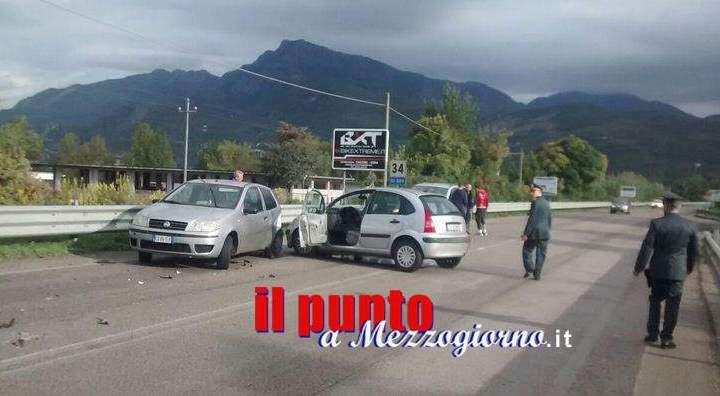 Incidente stradale sulla Superstrada Cassino Sora, un ferito