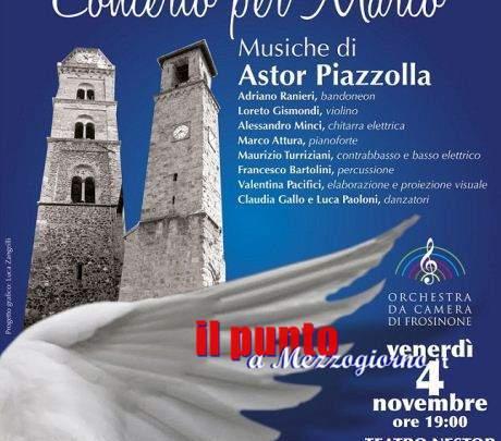 """Note di solidarietà, domani al Nestor di Frosinone: """"Concerto per Marco"""""""