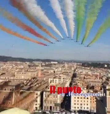 Le Frecce Tricolori e Roma come non le avete mai viste – Il VIDEO