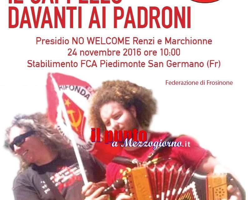 Renzi e Marchionne in Fca, previste proteste