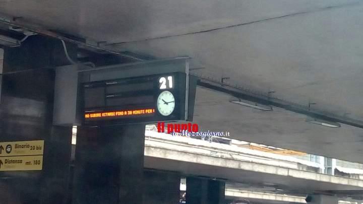 Guasto ad un treno dell'alta velocità, possibili ritardi fino a 30minuti sulla linea Roma Napoli