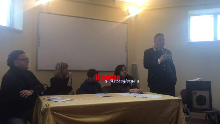 Incontro sul tema legalità presso l'istituto Don Minzoni a Piedimonte San Germano. Promosso dalla Camera Penale di Cassino