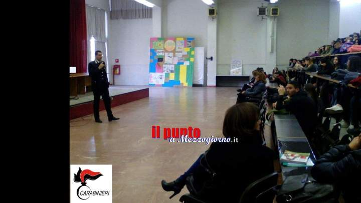 Cassino- Arma dei Carabinieri a convegno presso l'istituto Medaglia D'Oro