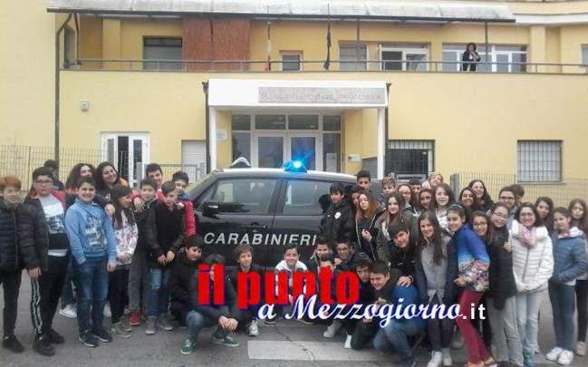 """Educazione alla legalità, carabinieri tra gli alunni della """"Innocenzo III"""" di Gavignano"""