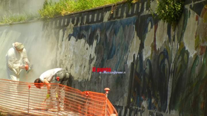 Frosinone: avviata la riqualificazione degli storici murales di via Ciamarra