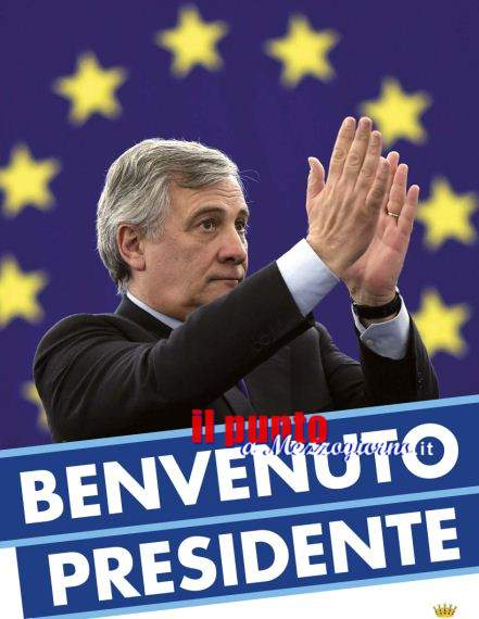 Il presidente del Parlamento Europeo Tajani in visita a Pontecorvo
