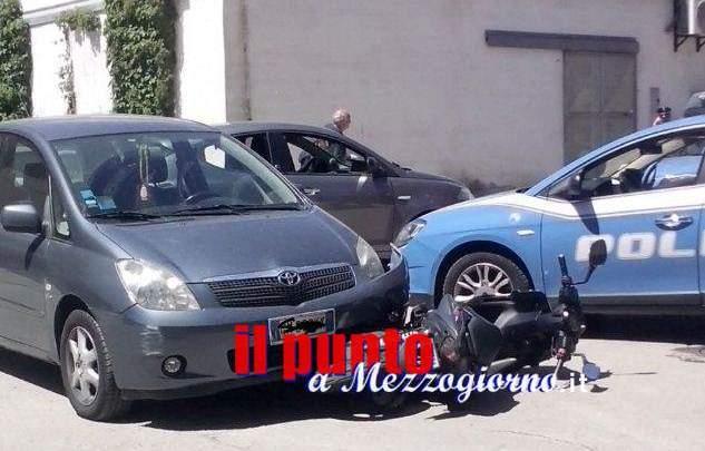 Incidente stradale con pugni in centro a Cassino, dopo lo schianto scoppia la lite