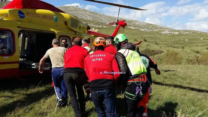 Ciclista infortunato sul Matese, soccorso e salvato dal CNSAS
