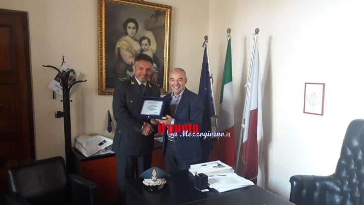 Pontecorvo: Rotondo saluta il colonnello Fortino che presto ricoprirà un prestigioso incarico a Palermo