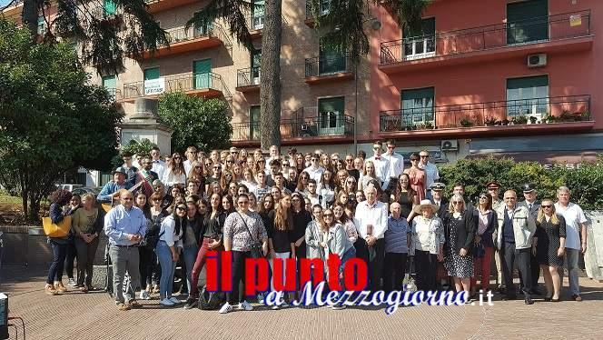 Commemorazione della Fondazione Cassino Stiftung con giovani polacchi, tedeschi, inglesi e italiani