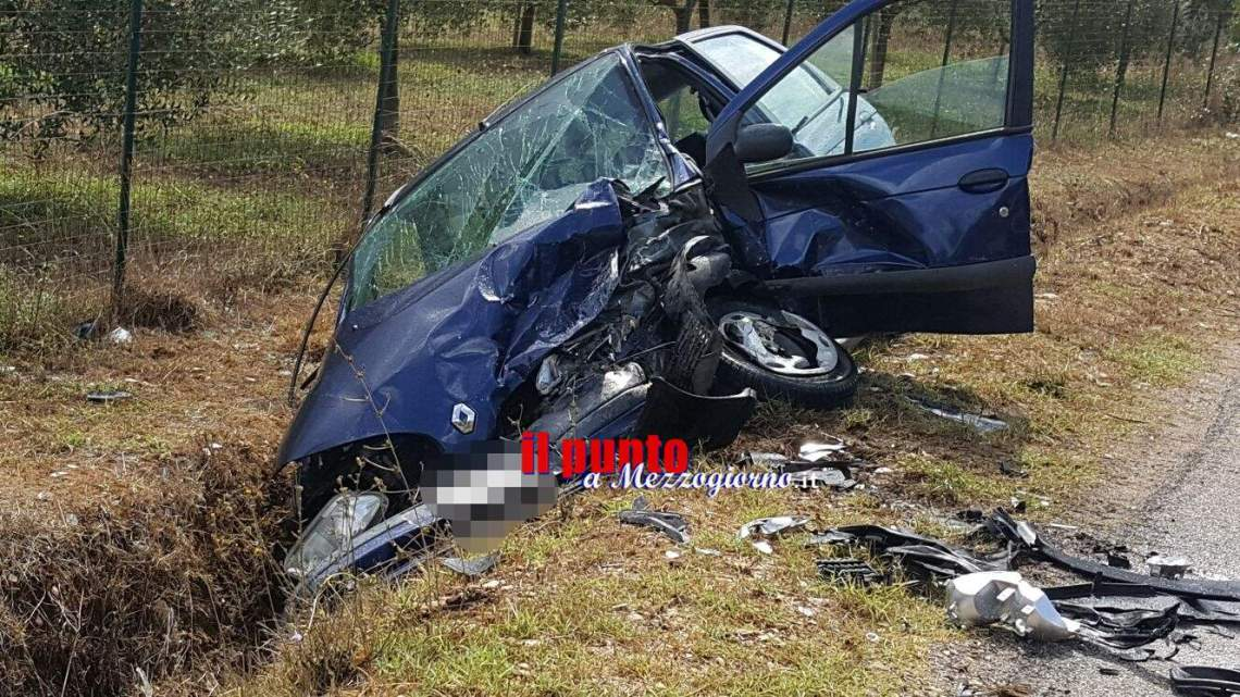 San Giorgio a Liri: Scontro tra due auto, due persone ferite