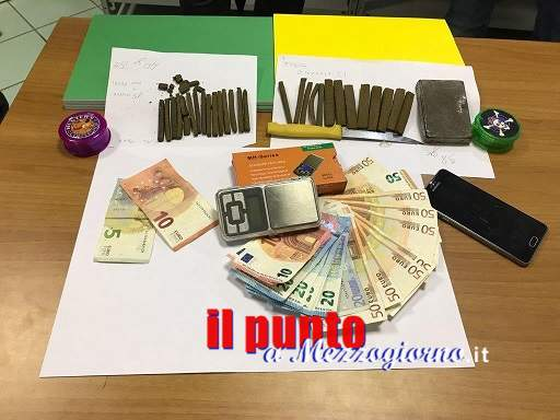 Giovane trovato in possesso di circa 200 grammi di hashish, arrestato dalla Guardia di Finanza