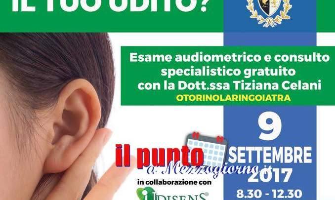 Aquino: Prevenzione gratuita dell'udito al Comune