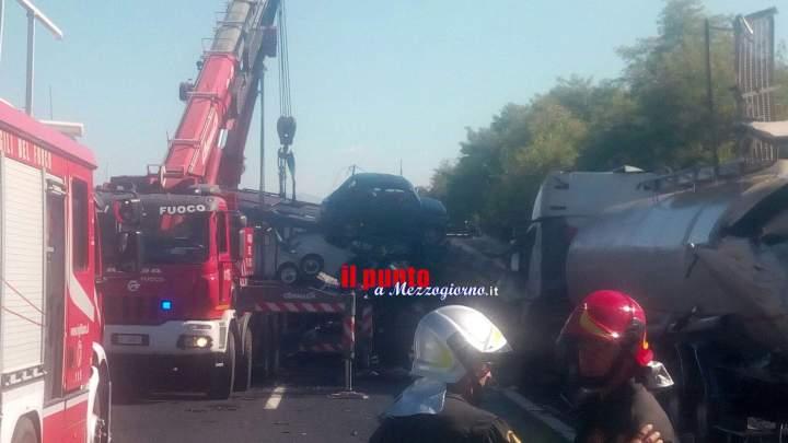 Incidente in A1 tra Pontecorvo e Cassino, bilancio pesantissimo. Due morti e tre feriti gravi