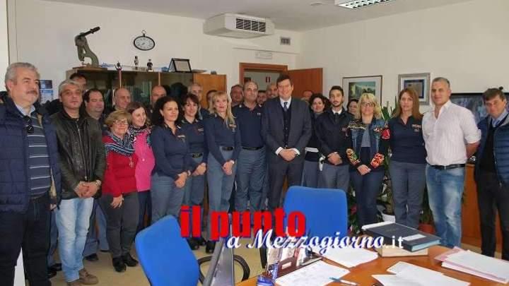 Il Questore, Filippo Santarelli, a Cassino: visita in Procura ed al Commissariato