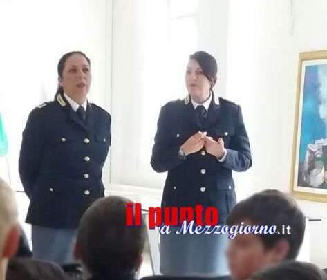 """Vallerotonda, la polizia fra gli studenti per dire """"no"""" al cyberbullismo"""