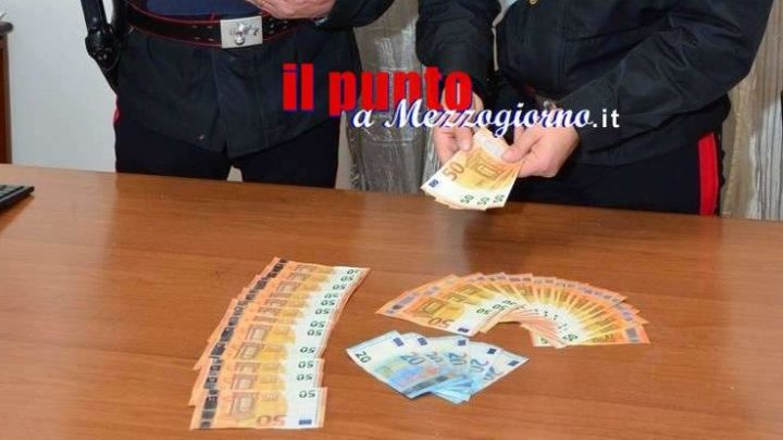 In giro con soldi falsi, 34enne arrestato a Castrocielo