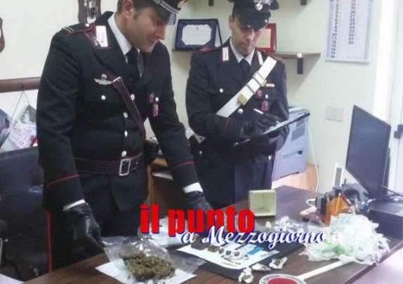 Camera da letto attrezzata per confezionare dosi di hashish e marijuana, arrestato 40ennead Arce
