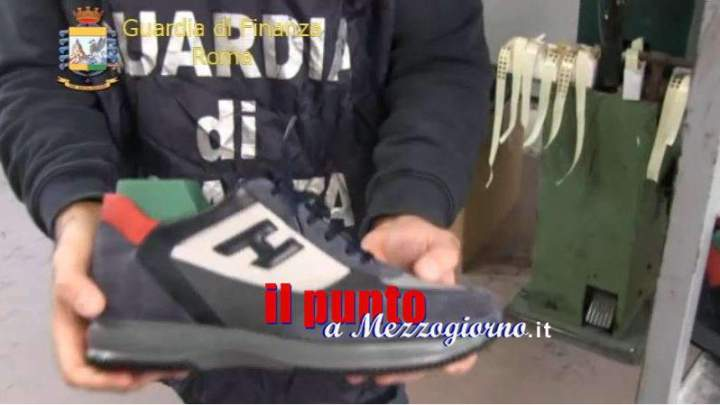 Maglie Burberry a 30 euro e scarpe Hogan a 50 euro, sgominata a Roma industria del falso