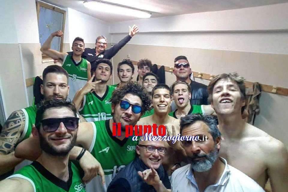 Capolavoro Basket Serapo, superata la capolista Fortitudo Roma. Continua la corsa ai play off