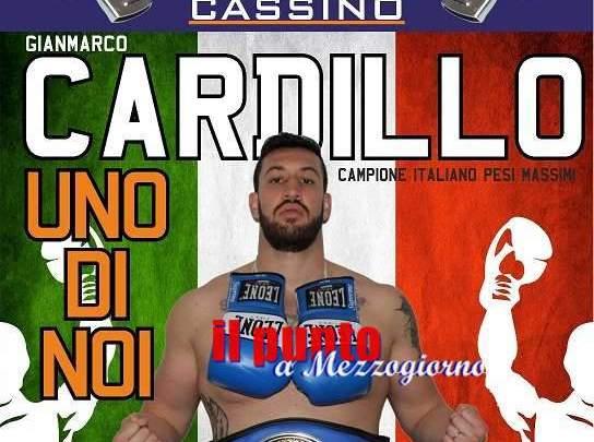 Festa per Gianmarco Cardillo da arbitro del CSI a campione italiano dei 'pesi massimi' di pugilato