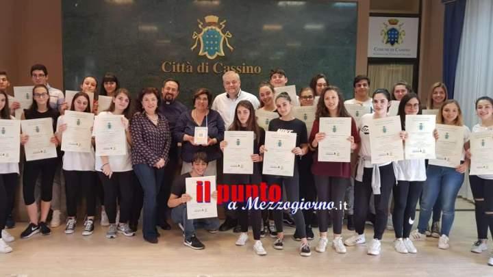 CASSINO: il Comune premia gli studenti del Liceo Classico Carducci