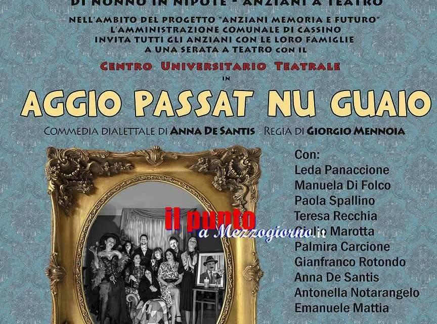 """""""Aggio passat nu guaio"""" e  """"Giallo in condominio"""" il CUT torna al Teatro Romano di Cassino 11 e 18 luglio"""