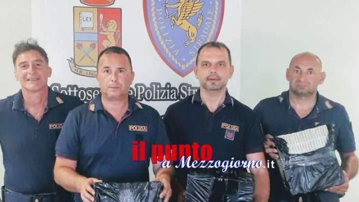 Contrabbando di sigarette dalla Biellorussia, maxi sequestrati sull'A1 a Cassino