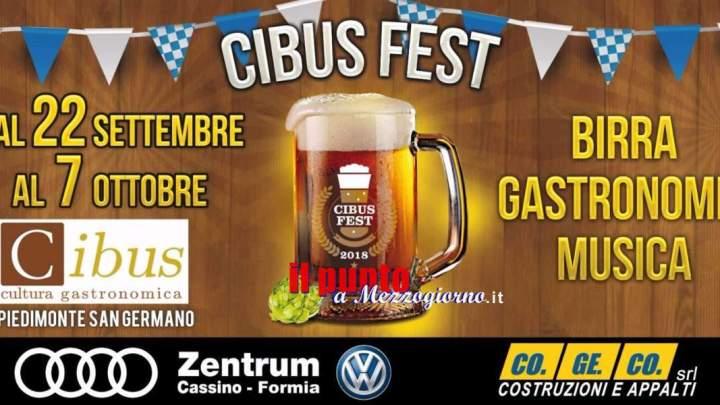 Cibus Fest, fine settimana densa di appuntamenti all'Oktoberfest di Piedimonte