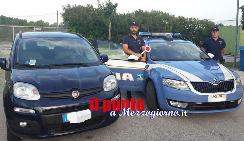 Sorpreso per due volte in una settimana sull'A1 a Cassino alla guida di un'auto rubata